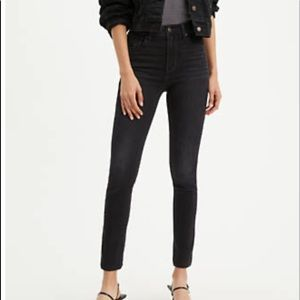 Levi's 721 high waisted skinny jeans-black size 24